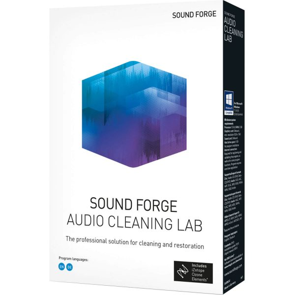 Magix Sound Forge Audio Cleaning Lab Crack v24.0.1.16 Full Version 2020 1