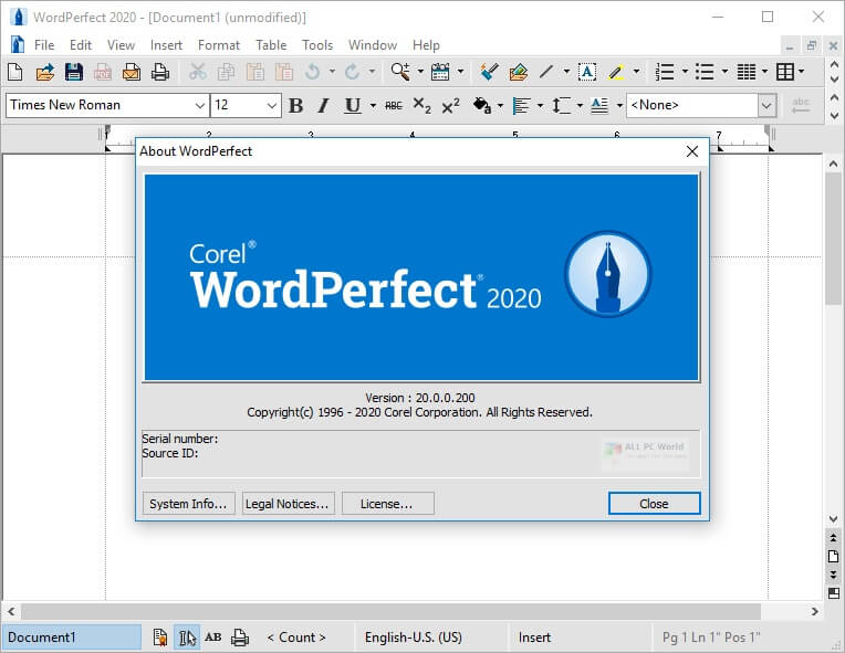 Corel WordPerfect Office Professional 2020 v20.0.0.200 + Crack [Latest]